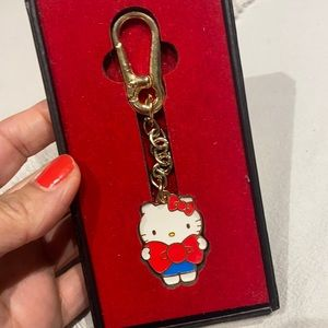 Hello Kitty Lootcrate Gold color Keychain